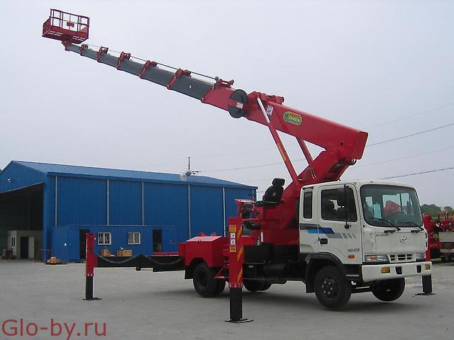 Сдается в аренду Автовышка 32 м. Телескопическая Mitsubishi Aichi