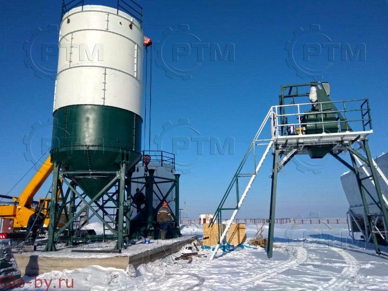 Зимний бетонный завод RTM