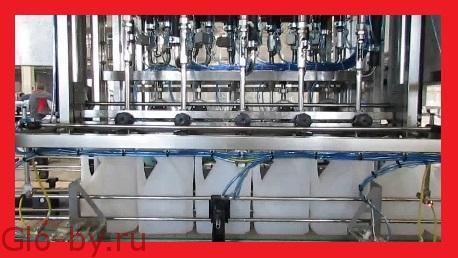 Линия розлива тосола, антифриза, стеклоомывающей жидкости и другой автохимии от 0,5 до 10л.