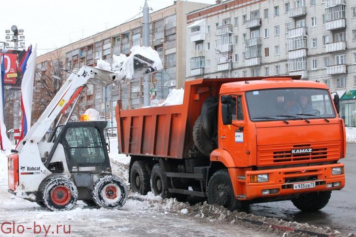 Комплекс услуг по уборке и вывозу снега, очистка кровли