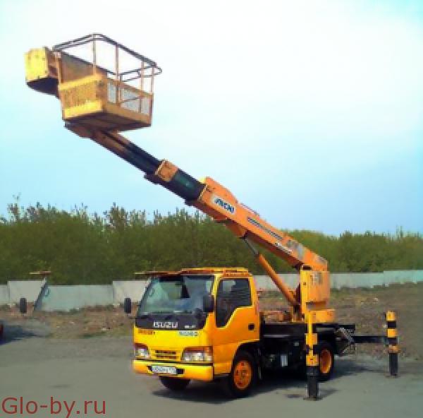 Сдается в аренду Автовышка 28 м. Телескопическая Isuzu Forward