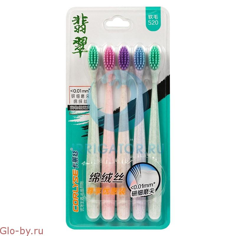 Набор зубных щеток Corlyse family NO.520 soft 5 шт.